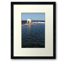 Ocean Baths Pumphouse Framed Print
