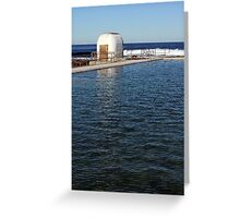 Ocean Baths Pumphouse Greeting Card
