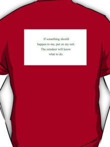 The Santa ClausE (Back) T-Shirt