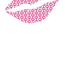 Pink Retro Wave Lips by kwg2200
