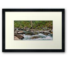 Rocks & Rapids Framed Print
