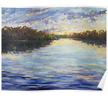 Sunset Reflections, Narrabeen Lakes Poster