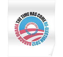 OBAMA RE-ELECTION 2012 (for light color shirts) Poster