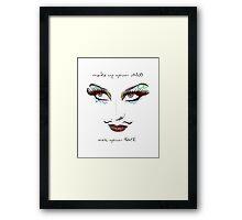 WOMAN MAKEUP Framed Print