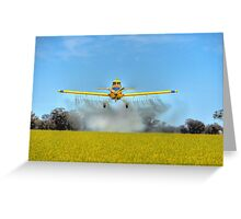 Crop Duster Greeting Card