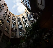 A Courtyard Curved Like a Hug - Antoni Gaudi's Casa Mila, Barcelona, Spain by Georgia Mizuleva