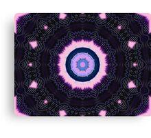 Mandala Pink And Black Canvas Print