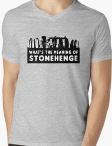 What's the meaning of stonehenge ? Mens V-Neck T-Shirt