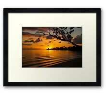 Jamaican Sunset Framed Print