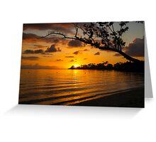 Jamaican Sunset Greeting Card
