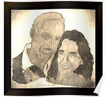 Spirit World Art Proposal Happy Couple Vintage Poster