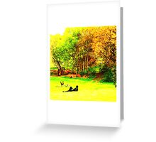 English Country Scene One Greeting Card