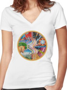 Soul Explosion Women's Fitted V-Neck T-Shirt