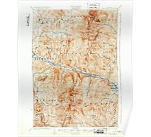 USGS Topo Map  Vermont VT Camels Hump 337905 1924 62500 Poster