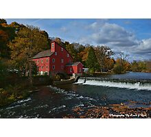 The Historic Red Mill of Clinton NJ Photographic Print