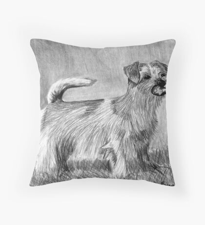 Norfolk Terrier Dog Portrait Throw Pillow