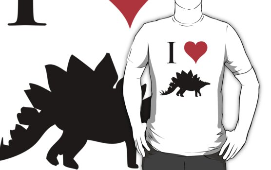 I Love Dinosaurs - Stegosaurus by jezkemp