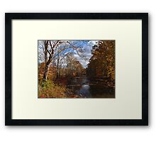 Flowing with the Autumn Stream Framed Print