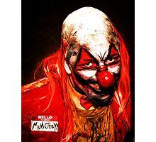 Evil Clown Munchey Photographic Print