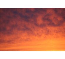Flaming Clouds Photographic Print