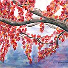 Autumnal Explosion in Red by Caroline  Lembke