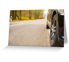 Car wheel Greeting Card