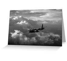 Vickers Wellingtons with 16 OTU black and white version Greeting Card