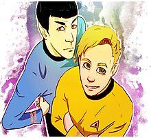 Star Trek Kirk and Spock print Photographic Print