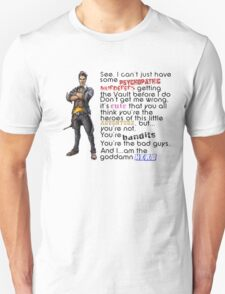 Handsome Jack - Hero rant T-Shirt
