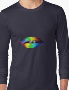 Rainbow lips T-Shirts & Hoodies Long Sleeve T-Shirt