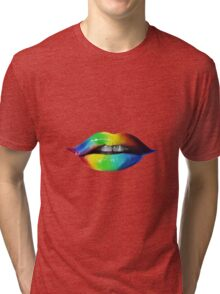Rainbow lips T-Shirts & Hoodies Tri-blend T-Shirt