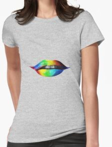 Rainbow lips T-Shirts & Hoodies Womens Fitted T-Shirt