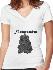 Chupacabra - image Women's Fitted V-Neck T-Shirt