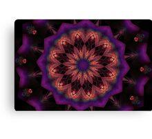 Mandala Purple Black and Red Canvas Print