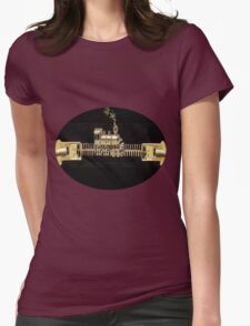 ♂ ♀ ZIPPED DOUBLE HEADER GET ME TO THE TRAIN ON TIME TEE SHIRT ♂ ♀ Womens Fitted T-Shirt