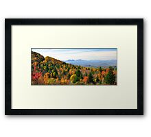 Autumn View of the Grayson Highlands Framed Print