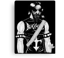 Black Metal Canvas Print