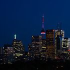 Indigo Sky and Toronto Skyline by Georgia Mizuleva
