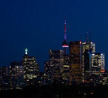 Indigo Sky and Toronto Skyline by Georgia Mizuleva