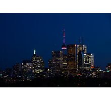 Indigo Sky and Toronto Skyline Photographic Print