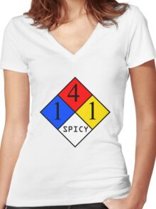 NFPA - SPICY Women's Fitted V-Neck T-Shirt