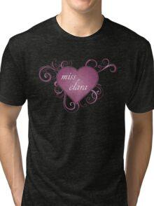clara w heart Tri-blend T-Shirt