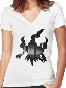 Darkrai - Pokemon Realism Women's Fitted V-Neck T-Shirt