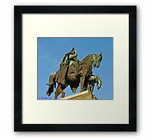 Kaiser Wilhelm statue Framed Print