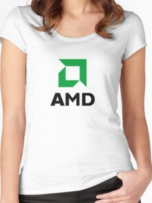 AMD Women's Fitted Scoop T-Shirt