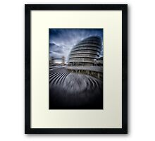 collapsing new building Framed Print