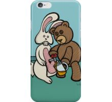 Teddy Bear And Bunny - Carrot Juice iPhone Case/Skin