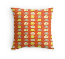 Elephant Baby Pattern - Tangerine Throw Pillow