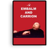 Embalm And Carrion Canvas Print