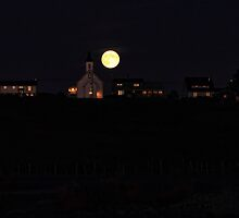 Moonrise Over Sandford by Debbie  Roberts